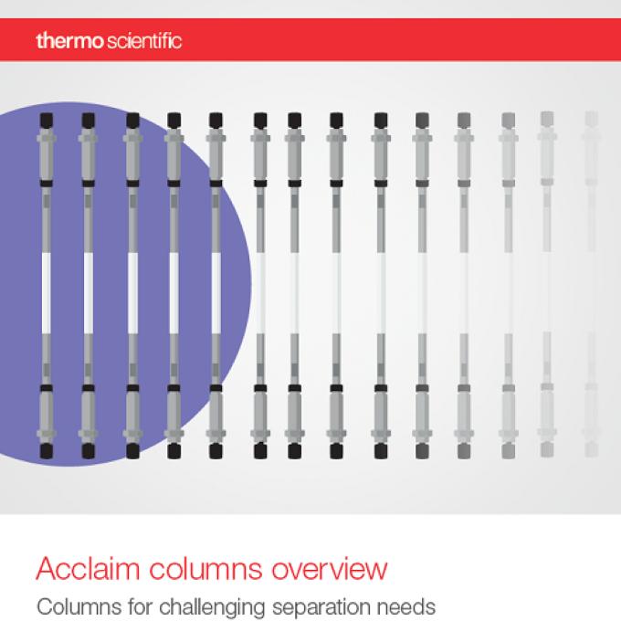 Nová přehledová brožura kolon Acclaim™