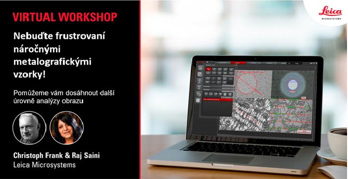Workshop: Jak analyzovat obtížné metalografické vzorky snadno a podle norem