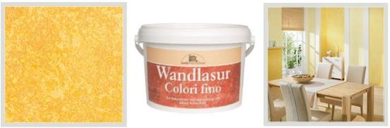 interiérové barvy: dekorativní technika - antický efekt výsledek